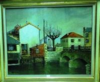 le pont saint privé à bourges by lucien ardenne
