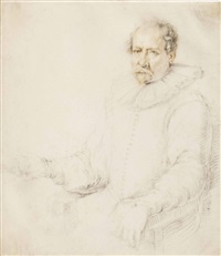 portrait of a seated man in an armchair by jacques de gheyn ii