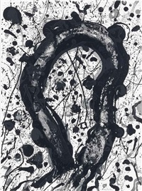 untitled, from: michel waldberg: poèmes dans le ciel by sam francis