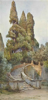 the garden steps by ettore roesler franz