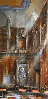 la bibliothèque aux lampes oranges by jean arcelin
