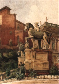 view from the capitol in rome by hermann herdtle