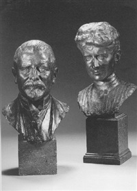 bust of an edwardian gentleman by alfred bertram pegram