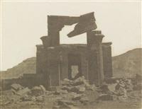 temple d'amunoph iii à el kab près edfou by ernest benecke