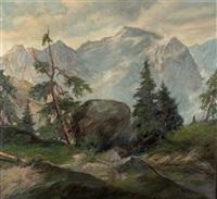 blick ins hochgebirge by willy köchler