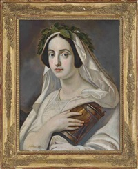 a bacchanalian maiden by georg friedrich christoph lenthe