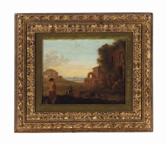 an arcadian landscape by cornelis van poelenburgh