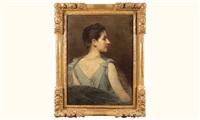 portrait de femme vue de profil by xavier alphonse monchablon