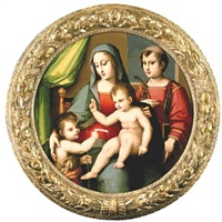 madonna and child with the infant st. john and st. peter martyr by andrea piccinelli