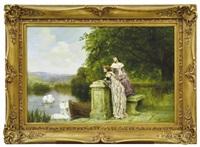 women by the lake by henry john yeend king