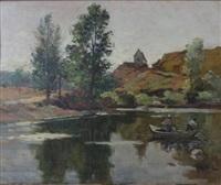 barque dans l'allier by alexandre rigotard