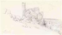 widok ruin zamku w olsztynie koło częstochowy by wojciech gerson