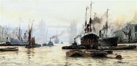 the tower bridge, london by frederick william scarborough