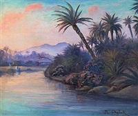 paysage orientaliste by roméo aglietti