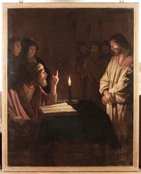 cristo davanti a caifa by gerrit van honthorst