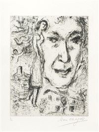 auto portrait by marc chagall