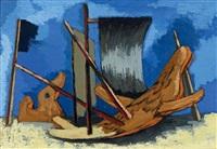 barque et mâts by jean lurçat