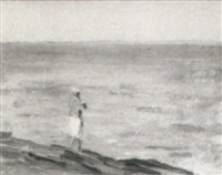 figure on the rocks by gertrude fiske