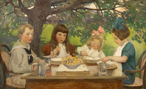 the tea party by jessie willcox smith