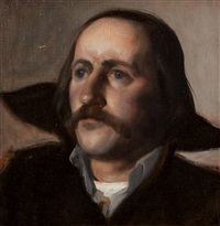 portrait of a man with a moustache by niccolo d'ardia caracciolo