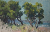 trees by the river by george pitt morison