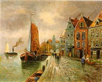 dutch coastal town by van hoom