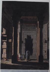 interior of the temple of mandeswara near chaynpore, bahar, pl.xxii by thomas daniell
