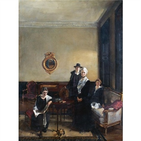 portrait of mrs john brown and her daughters by david alison