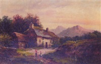 cottage near arthog, wales by m.m. jacobi