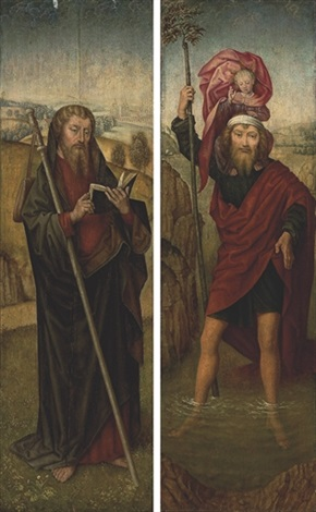 saint christopher saint james the greater 2 works by hans memling