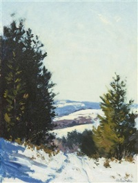 winter landscape by hermann dudley murphy
