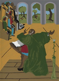 the first book of moses called genesis (vol. w/8 works) by jacob lawrence