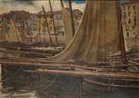 barcos en el puerto by julián ibáñez de aldecoa