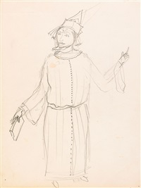 untitled (costume design for twelve months by marshak) by vladimir tatlin