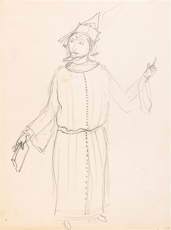 untitled costume design for twelve months by marshak by vladimir tatlin