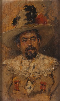 portrait of francesco marconi (tenor singer) by antonio maría de reyna manescau