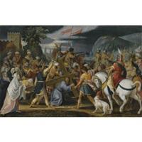 christ on the road to calvary by johann (hans) konig