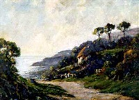 steephill cove, isle of wight by harold goldthwaite