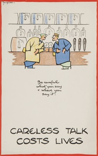 careless talk costs lives (4 works) by fougasse (cyril kenneth bird)