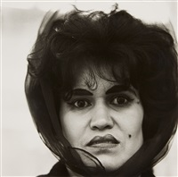 puerto rican woman with a beauty mark, nyc by diane arbus