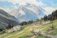 frühling in berchtesgaden am hochkalter by ernst carl walter retzlaff