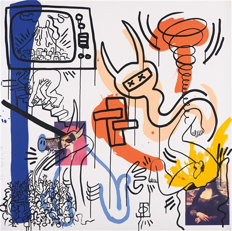 apocalypse 7 (from apocalypse series) by keith haring