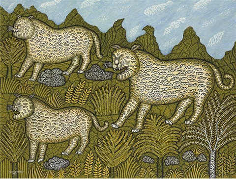 leopard family by morris hirshfield