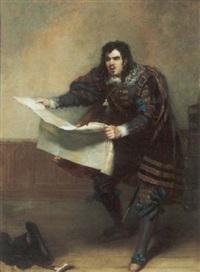 portrait of john vandenhoff in the character of sir giles overreach by robert william buss