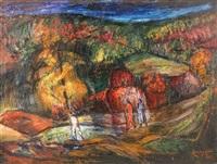 an autumn walk by lászló kemény