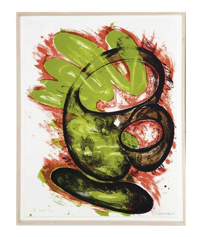 snake cup (+ hand on head; 2 works) by elizabeth murray