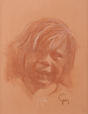 enfant riant by henry jules jean geoffroy