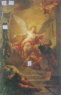 the angel liberating peter from prison by carlo giuseppe ratti