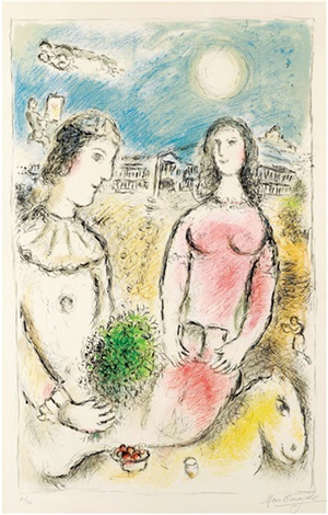 le couple au crépuscule by marc chagall