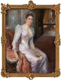 portrait of consul-general holmblads wife by albert edelfelt